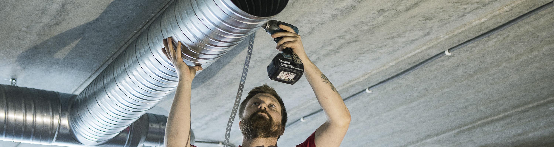 Montage/installation – Bälinge Ventilation genomför alla typer av montage och ventilationsinstallationer. Våra projekt sträcker sig alltifrån mindre ventilationsmontage till totalentreprenader med helhetsåtaganden. Vi har lång erfarenhet av stora och komplexa ventilationsentreprenader.